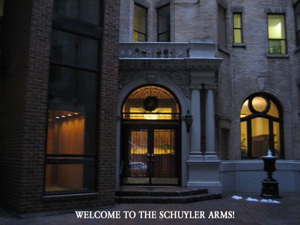 Welcome to the Schuyler Arms, 305 West 98th Street, New York City