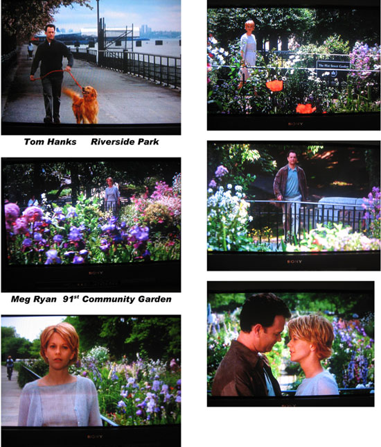You've Got Mail, Nora Ephron's Valentine to the Upper West Side - the movie ends in our local 91st garden